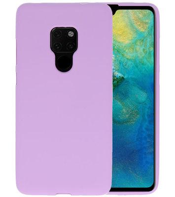 Color TPU Hoesje voor Huawei Mate 20 Paars