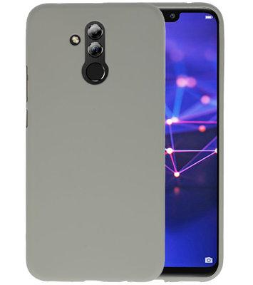 Color TPU Hoesje voor Huawei Mate 20 Lite Grijs