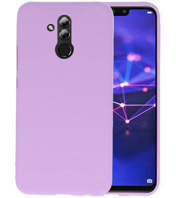 Color TPU Hoesje voor Huawei Mate 20 Lite Paars