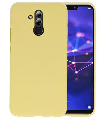 Color TPU Hoesje voor Huawei Mate 20 Lite Geel