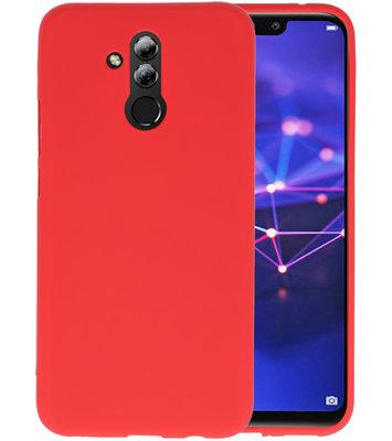 Color TPU Hoesje voor Huawei Mate 20 Lite Rood