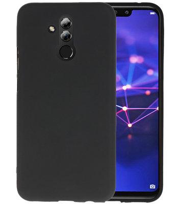 Color TPU Hoesje voor Huawei Mate 20 Lite Zwart