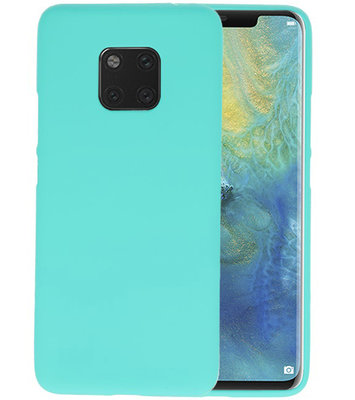 Color TPU Hoesje voor Huawei Mate 20 Pro Turquoise