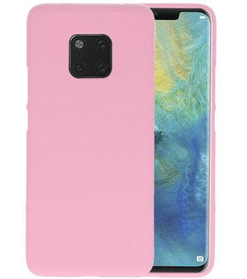 Color TPU Hoesje voor Huawei Mate 20 Pro Roze