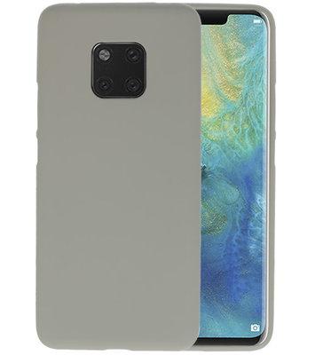 Color TPU Hoesje voor Huawei Mate 20 Pro Grijs