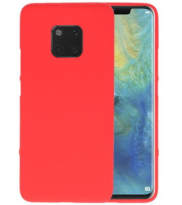 Color TPU Hoesje voor Huawei Mate 20 Pro Rood