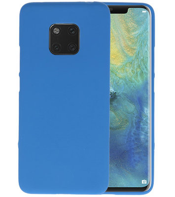 Color TPU Hoesje voor Huawei Mate 20 Pro Navy
