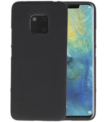 Color TPU Hoesje voor Huawei Mate 20 Pro Zwart