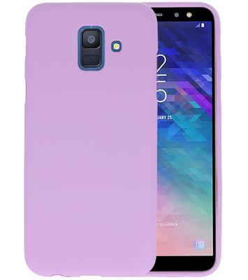Color TPU Hoesje voor Samsung Galaxy A6 2018 Paars