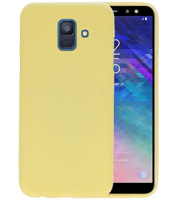 Color TPU Hoesje voor Samsung Galaxy A6 2018 Geel