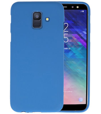 Color TPU Hoesje voor Samsung Galaxy A6 2018 Navy