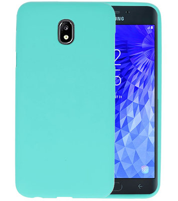 Color TPU Hoesje voor Samsung Galaxy J7 2018 Turquoise