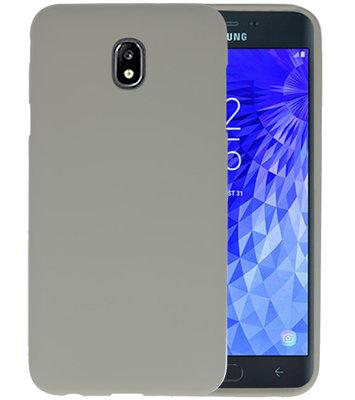 Color TPU Hoesje voor Samsung Galaxy J7 2018 Grijs