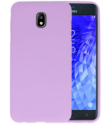 Color TPU Hoesje voor Samsung Galaxy J7 2018 Paars