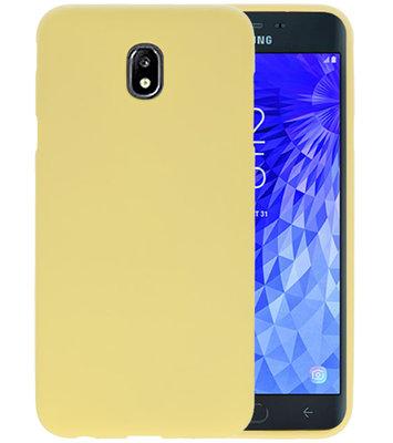 Color TPU Hoesje voor Samsung Galaxy J7 2018 Geel