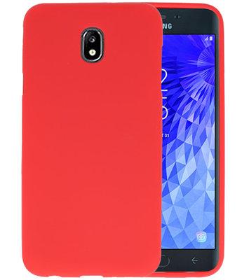 Color TPU Hoesje voor Samsung Galaxy J7 2018 Rood