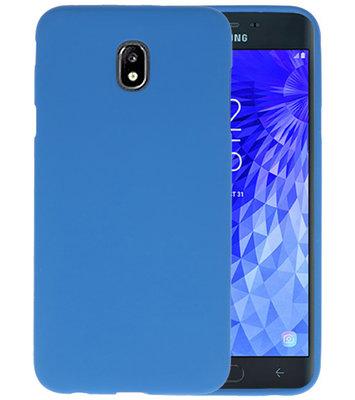 Color TPU Hoesje voor Samsung Galaxy J7 2018 Navy