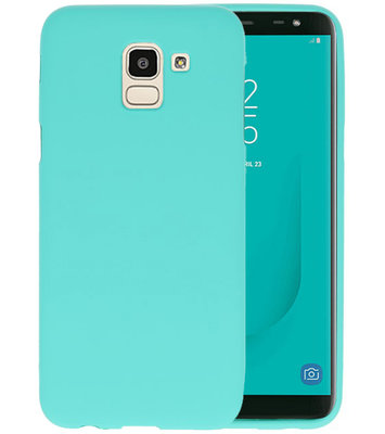 Color TPU Hoesje voor Samsung Galaxy J6 Turquoise