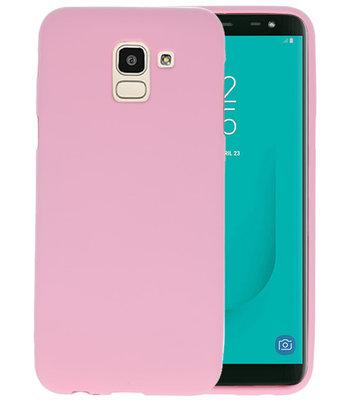 Color TPU Hoesje voor Samsung Galaxy J6 Roze