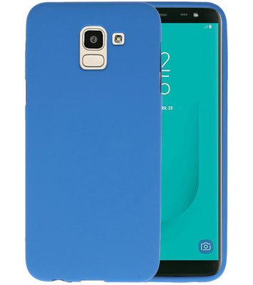 Color TPU Hoesje voor Samsung Galaxy J6 Navy
