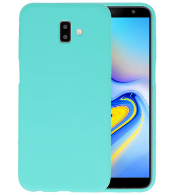 Color TPU Hoesje voor Samsung Galaxy J6 Plus Turquoise