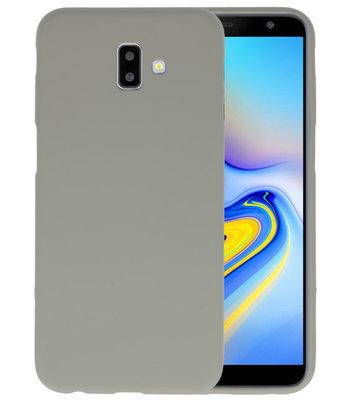 Color TPU Hoesje voor Samsung Galaxy J6 Plus Grijs