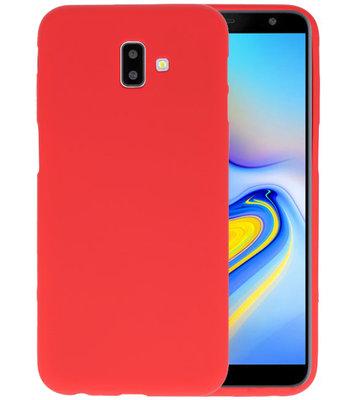 Color TPU Hoesje voor Samsung Galaxy J6 Plus Rood