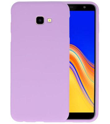 Color TPU Hoesje voor Samsung Galaxy J4 Plus Paars