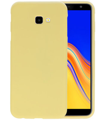 Color TPU Hoesje voor Samsung Galaxy J4 Plus Geel