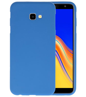 Color TPU Hoesje voor Samsung Galaxy J4 Plus Navy