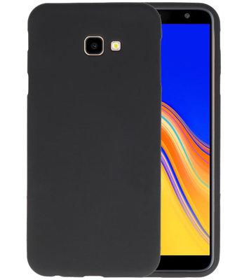 Color TPU Hoesje voor Samsung Galaxy J4 Plus Zwart