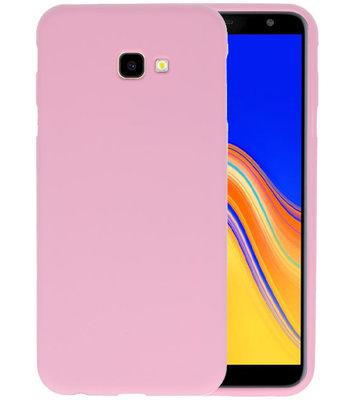 Color TPU Hoesje voor Samsung Galaxy J4 Plus Roze