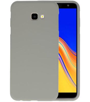 Color TPU Hoesje voor Samsung Galaxy J4 Plus Grijs