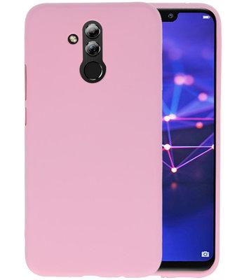 Color TPU Hoesje voor Huawei Mate 20 Lite Roze