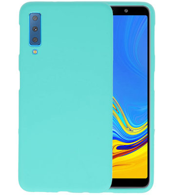 Color TPU Hoesje voor Samsung Galaxy A7 2018 Turquoise