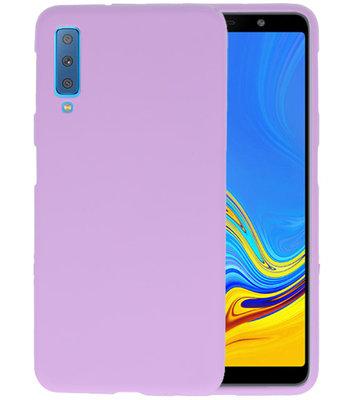 Color TPU Hoesje voor Samsung Galaxy A7 2018 Paars