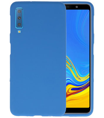 Color TPU Hoesje voor Samsung Galaxy A7 2018 Navy
