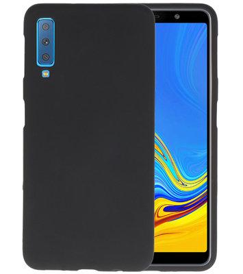 Color TPU Hoesje voor Samsung Galaxy A7 2018 Zwart