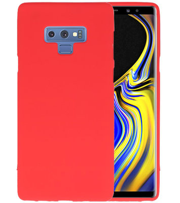 Color TPU Hoesje voor Samsung Galaxy Note 9 Rood