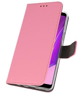 Wallet Cases Hoesje voor Samsung Galaxy A9 2018 Roze