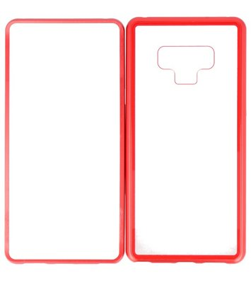 Rood Transparant Magnetisch Back Cover Hoesje voor Samsung Galaxy Note 9