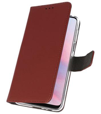 Wallet Cases Hoesje voor Huawei Y9 2019 Bruin
