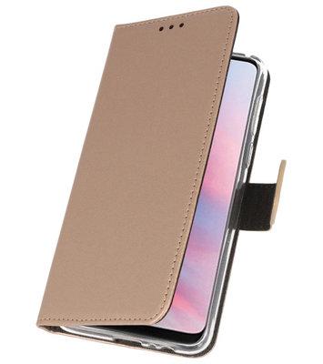 Wallet Cases Hoesje voor Huawei Y9 2019 Goud