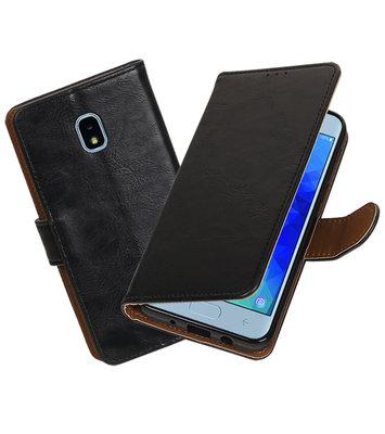 Hoesje voor Samsung Galaxy J3 (2018) Pull-Up Booktype Zwart