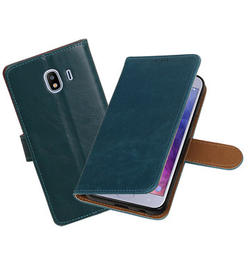 Hoesje voor Samsung Galaxy J4 Pull-Up Booktype Blauw