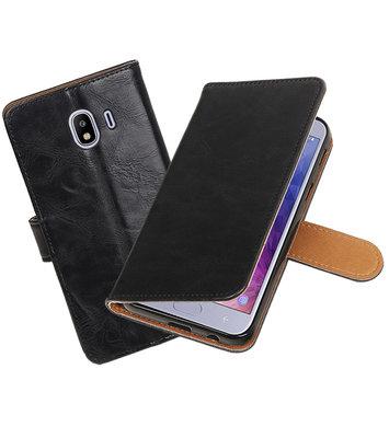 Hoesje voor Samsung Galaxy J4 Pull-Up Booktype Zwart