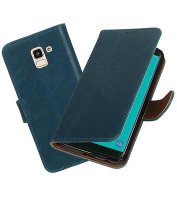 Hoesje voor Samsung Galaxy J6 Pull-Up Booktype Blauw