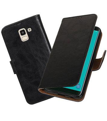 Hoesje voor Samsung Galaxy J6 Pull-Up Booktype Zwart