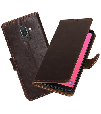 Hoesje voor Samsung Galaxy J8 Pull-Up Booktype Mocca
