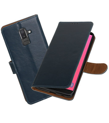 Hoesje voor Samsung Galaxy J8 Pull-Up Booktype Blauw